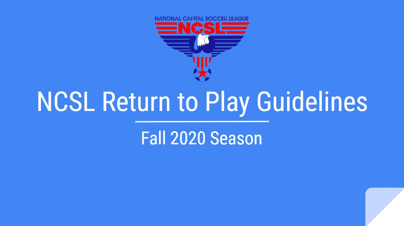 Fall 2020 NCSL Return to Play Guidelines - Silver, Black & White Teams